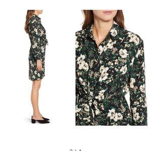Everleigh Dresses - Everleigh Shirred Knot Shirtdress